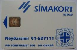 ICELAND - Chip - Simakort - Flugleidir - 150 Units - ICE-RA -03a - 5000ex - 1992 - Mint - Iceland