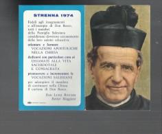 97265 MINI CALENDARIO RELIGIOSO ANNO 1974 DON BOSCO - Calendari