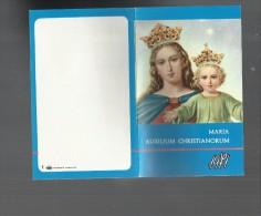97266 MINI CALENDARIO RELIGIOSO ANNO 1971MARIA AUXILIUM CHRISTIANORUM - Formato Piccolo : 1971-80