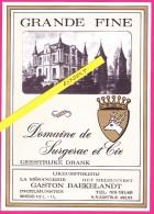 "ETIKET "" Grande Fine ""- LIQUEURS / G. BAEKELANDT - INGELMUNSTER - Likeurstokerij - Autres Collections"