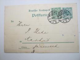 1895 , BRESLAU      Firmenlochung , Perfin , Beleg - Germany