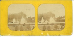 STEREO France, Versailles Le Château STEREO France, Versailles Le Château  Tirage Albuminé   8,5x17   Circa 1870 - Stereoscopio