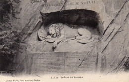 CPA LE LION DE LUCERNE - LU Lucerne