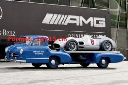 Reproduction D'une Photographie Du Mercedes Race Car Transporter De 1955 - Reproductions