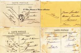 GABRIEL FIGUET - COUREUR CYCLISTE - LOT DE 10 CORRESPONDANCES + 3 CPA LUI ETANT ADRESSEES - DROME - AUTOGRAPHE - Autografi