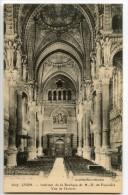 LYON - Intérieur De La Basilique De N.-D. De Fourvière - Vue De L´Entrée - CPA Vierge Non écrite - 2 Scans - Lyon