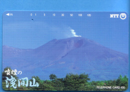 Japan Japon Telefonkarte Télécarte Phonecard  -  NTT Nr. 271 - 218 Vulkan - Volcans