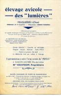 60.FEUQUIERES.62.SAUCHY-LESTRÉE.ELEVAGE AVICOLE DES LUMIERES.Mme.KRAVTZOFF PROPRIETAIRE. - France