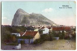 GIBRALTAR - Rock From La Pedrera - Colorisée écrite Timbre Enlevé - 2 Scans - Gibraltar