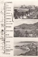 La Carte Itineraire Pratique De St. Raphael A Menton Via Theoule Miramar Par Le Bord De Mer - Francia