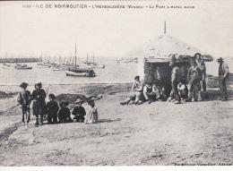 REPRINT Ile De Noirmoutier L`Herbaudiere Le Port A Maree Basse - Ile De Noirmoutier