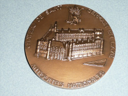 Rare Médaille En Bronze, Chateau De St Saint-Germain En Laye, Antiquités Nationales, François 1er Salamandre, BARON - Tourist