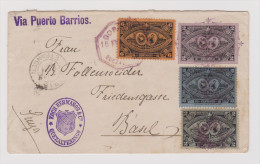 Guatemala 1897-02-20 Brief Via Negibida Und Paris Nach Basel - Guatemala