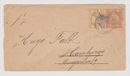 Peru 1896-03-18 Cochabamba GS Brief Mit Zusatzfrankatur Nach Hamburg KOS Ankunft Stempel - Pérou