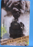 Japan Japon Telefonkarte Télécarte Phonecard  -  NTT Nr. 430 - 157 Train Steam Eisenbahn Lok Dampflok - Trains