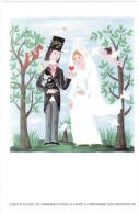 CPM PEYNET SERIE PERRIER JOUET CHAMPAGNE AMOUREUX MARIAGE - Peynet