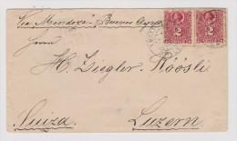 Chile 1894-04-07 Valparaiso Brief Nach Luzern - Chili