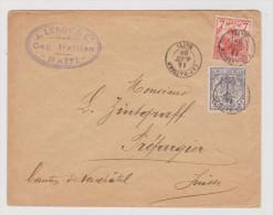 Haiti Cap-Haitien 1893-08-14 Brief Nach Préfargier NE AK-Stempel St Blaise - Haïti