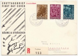 LIECHTENSTEIN FDC R-Brief 1963, 3 Fach Frankiert (Ank405-407, Kat.Wert > 80 €) Gel.Vaduz - Regensburg