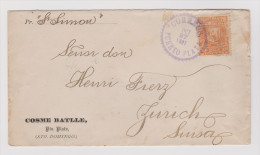 Dominikanische Republik 1891-10-27 Puerto Plata Brief Nach Zürich - Dominicaine (République)