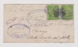 Honduras 1893-02-24 Comayagua Brief Nach Chicago - Honduras