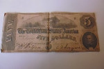 Billet Five Dollars The Confederate States Of America 02/12/1862 - Devise De La Confédération (1861-1864)