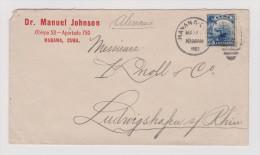 Cuba 1903-03-17 Havana Brief Nach Ludwigshafen D - Cuba