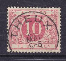 Belgium Taxe Porto 1919 Mi. 18 A     10 C. Wertziffern Auf Weissen Grund Deluxe Cancel THEUX !! - Portomarken