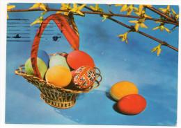 Joyeuses Pâques---Oeufs Décorés,fleurs Cpsm 15 X 10 Foto Vladimir Slajchrt--carte Glacée-timbre - Pâques