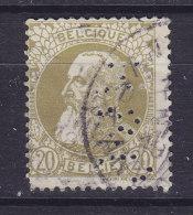 "Belgium 1905 Mi. 72     50 C. Leopold II. Perfin Perforé Lochung ""A.& C."" (2 Scans) - Lochung"