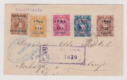 Guatemala 1895-03-27 R-Brief Nach Cetinje Montenegro Transit St. Triest. - Guatemala