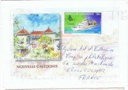 BAT-L34 - NOUVELLE CALEDONIE PA 321 Sur Lettre Pour Colmar - Briefe U. Dokumente