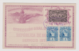 "MOTIV EISENBAHN ""Ferrocarril Norte"" Guatemala UPU Ganzsache Mit Zusatzfrankatur. - Guatemala"