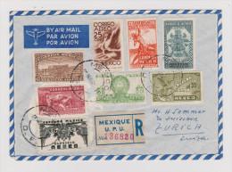 Mexiko 1949-11-25 Mexique R-Flugpost Brief Nach Zürich - Mexique