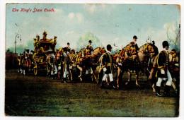 Angleterre--King Edward VII---1912---The King´s State Coach (très Animée) éd E.Gordon Smith - Familles Royales