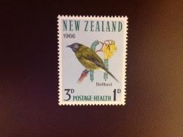 New Zealand Health Birds Bellbird 1966 MH - Vögel