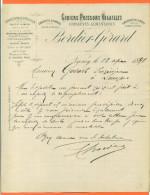 Nancy - Courrier Bordier Gerard - Gibiers , Poissons , Volailles - Alimentos