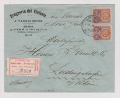 Mexiko 1902-02-08 Mexico R-Brief Nach Ludwigshafen - Mexique