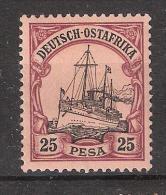 Deutsch Ost Afrika / Afrique Orientale Allemande , 1900 Yvert N° 17 , 25 PESA Carmin / Noir ,neuf *  TB , Cote 12 Euros - Colonie: Afrique Orientale
