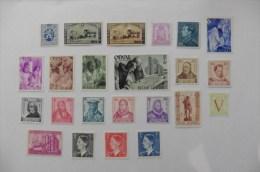 Belgique :23 Timbres Neufs Sans Charnière - Verzamelingen