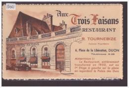 DIJON - RESTAURANT AUX TROIS FAISANS - TB - Dijon
