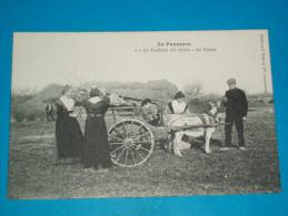 """84 ) Métiers - En Provence - N° 1 - La Cueillette Des Olives - Le Départ """" Attelage """"   - EDIT : Bru - Unclassified"""