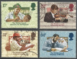 Great Britain. 1984 50th Anniv Of The British Council. Used Complete Set. SG 1263-1266 - 1952-.... (Elizabeth II)