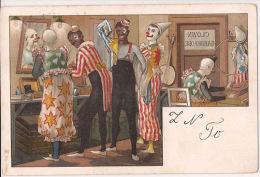 CLOWNS CIRCUS ZIRKUS  1902 Ref 733 Met Postzegel Postkarte Carte Postale  Cirque - Illustrateurs & Photographes