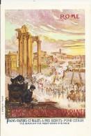 ITALIE LAZIO PARIS-ROME PUBLICITE CHEMINS DE FER P.L.M. RIVIERA CÔTE D´AZUR SUPERBE - Transports
