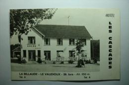 D 39 - La Billaude - Le Vaudioux - Hôtel Les Cascades (dépliant) - Non Classificati