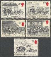 Great Britain. 1984 Bicentenary Of First Mail Coach Run. Bath And Bristol To London. Used Complete Set. SG 1258-62 - 1952-.... (Elizabeth II)