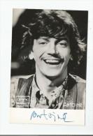 ANTOINE PHOTO  AVEC AUTOGRAPHE 1970 - Autographes