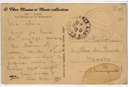 BATAILLON D ETAPES - CAPITAINE COMMANDANT - MAISON CARREE ALGER - CACHET MILITAIRE - SUR CPA - Marcophilie (Lettres)