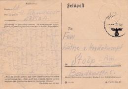 Feldpost WW2: Artillerie-Regiment 32 (Stab II)  FP 23553A P/m 20.12.1941 - Plain Postcard Signed In Russia  (G79-58) - Militaria